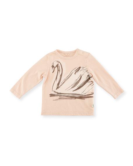 Stella McCartney Georgie Swan Sketch Tee, Size 12-36