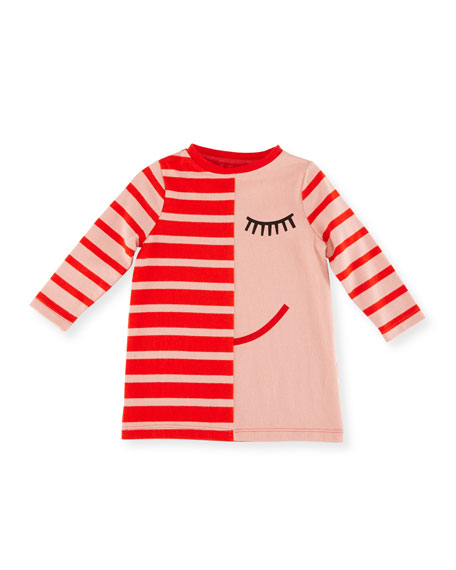 Stella McCartney Charlotte Striped Jersey Dress w/ Face