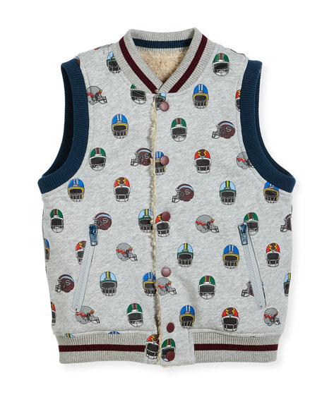 Rhubarb Reversible Vest, Size 4-6