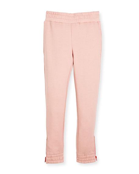 Melba Jersey Knit Pant w/ Zipper Detail, Size 4-14