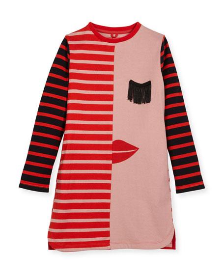 Stella McCartney Kora Striped Jersey Dress, Size 4-14