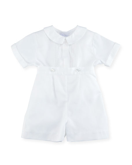 Kissy Kissy Parker Two-Piece Short-Sleeve Christening Suit Set,