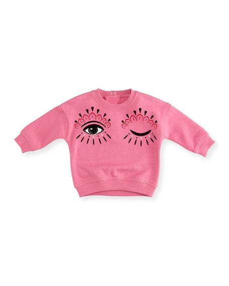 Kenzo Eyes Graphic Sweatshirt, Size 12-18 Months