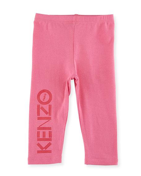 Bubble Logo Stretch Leggings, Medium Pink, Size 2-3Y