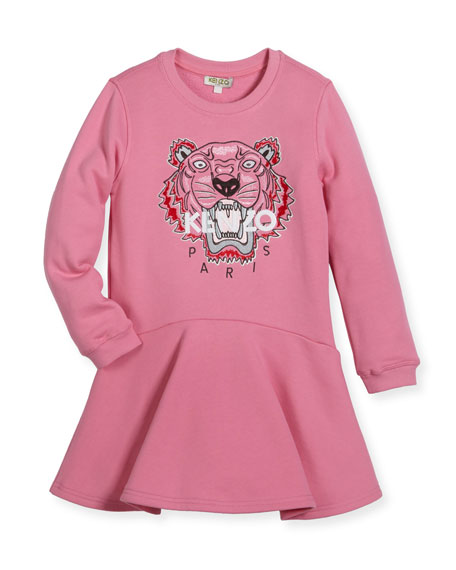 Bubble Tiger Sweater Dress, Size 2-3