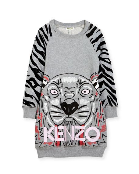 Big Tiger Sweater Dress, Size 8-12