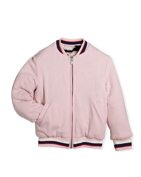 Reversible Faux-Fur Zebra Print Jacket, Size 4-6