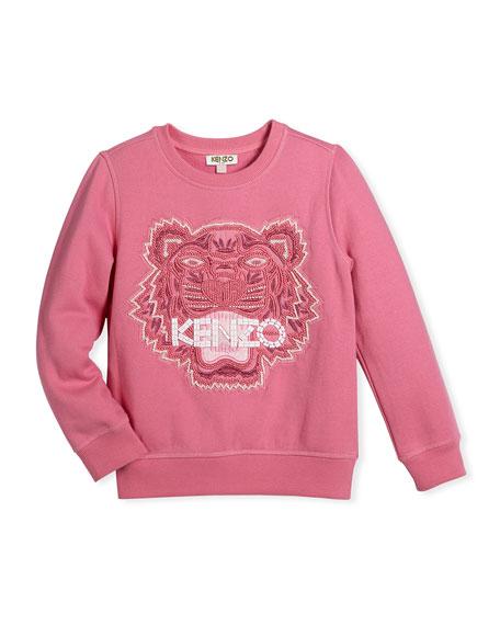 Bubble Beads Tiger Sweatshirt, Size 6