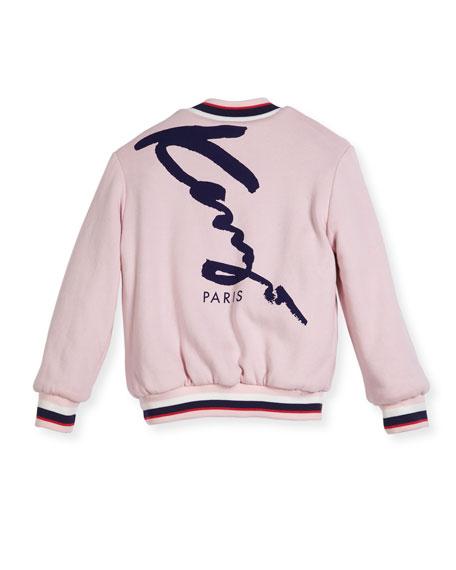 Reversible Faux-Fur Zebra Print Jacket, Size 14-16