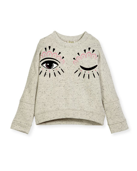 Kenzo Marbled Eye Sweater, Size 4-6