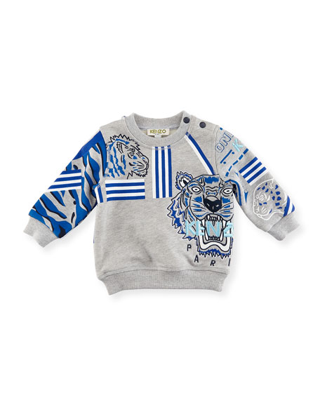 Tiger Embroidered Sweater, Size 12-18M