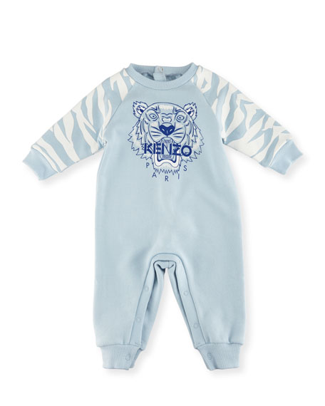 Tiger One-Piece Lounger, Blue, Size 3-18 Months