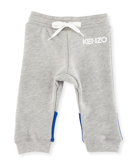 Logo Drawstring Sweatpants, Gray, Size 12-18M