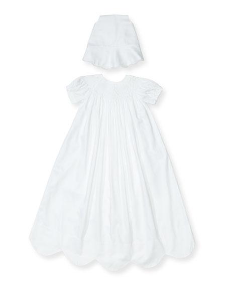 Kissy Kissy Caroline Short-Sleeve Christening Gown Set, Size