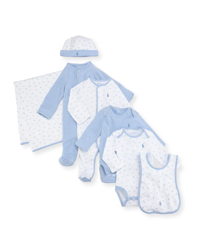 7-Piece Boxed Layette Set, Blue, Size Newborn-9 Months