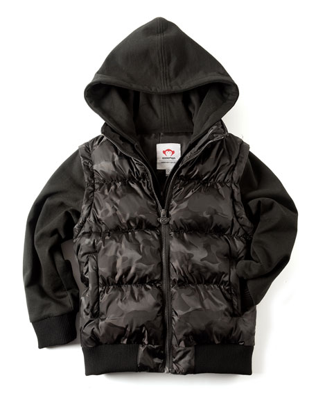 Turnstile Convertible Puffer Jacket, Size 2-10