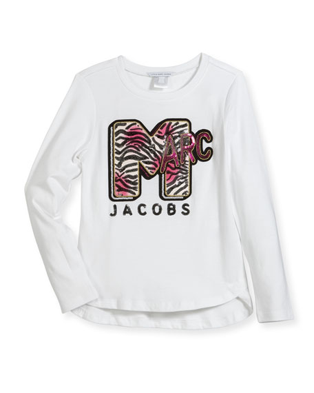 Little Marc Jacobs MTV Logo Long-Sleeve T-Shirt, Size