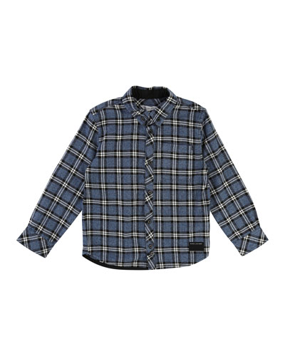 Long-Sleeve Flannel Shirt, Size 4-5