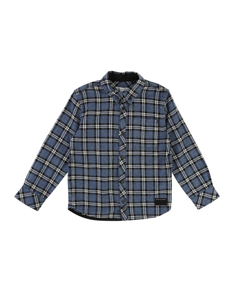 Long-Sleeve Flannel Shirt, Size 6-10