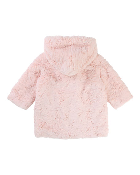 Faux-Fur Hooded Coat, Size 2-3