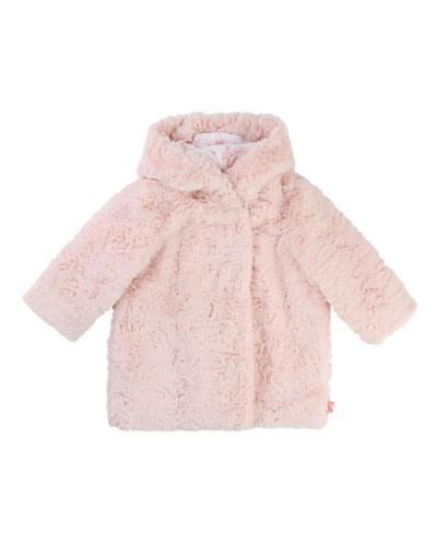 Faux-Fur Hooded Coat, Size 2-3