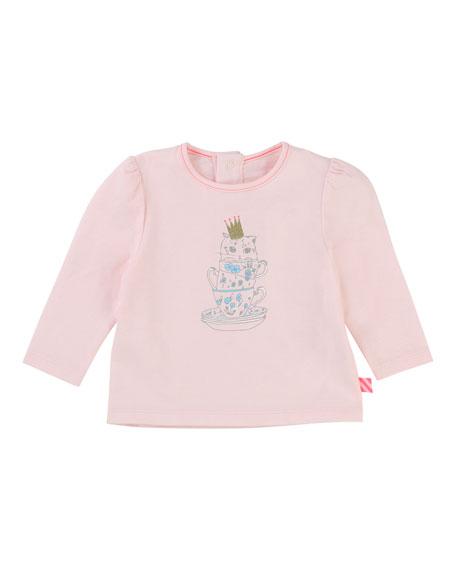 Teacup Kitten Jersey T-Shirt, Size 2-3