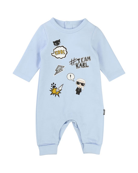 Graphic Print Coverall, Size 3-12 Months