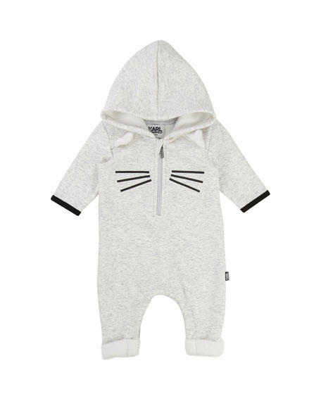Hooded Cat Coverall, Size 3-12 Months