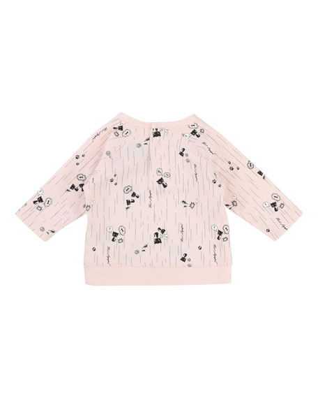 Team Karl Allover Print Sweatshirt, Size 3-12 Months