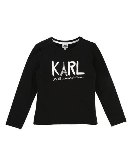 Karl Eiffel Tower Graphic Tee, Size 2-5