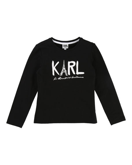 Karl Eiffel Tower Graphic Tee, Size 6-10