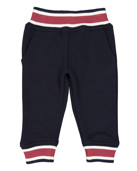 Preppy Varsity Stripe Hooded Jacket w/ Sweatpants, Size 3-24 Months