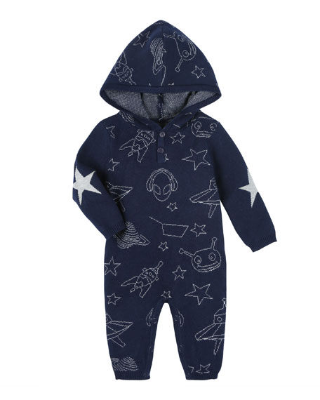 Andy & Evan Allover Space Print Hooded Coverall,