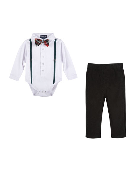 Andy & Evan Holiday Polo Shirtzie™ w/ Pants,