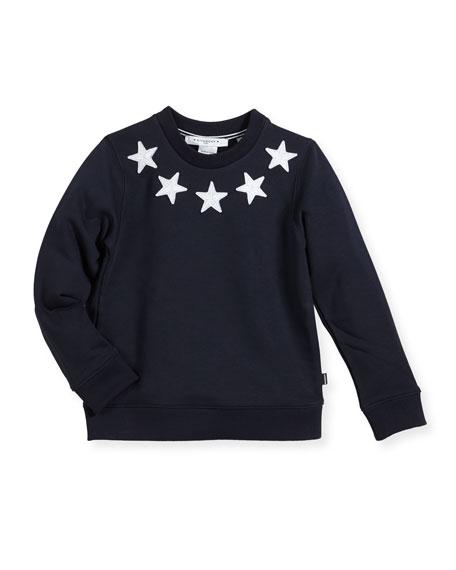 Givenchy Boys' Crewneck Sweatshirt w/ Star Patches, Size