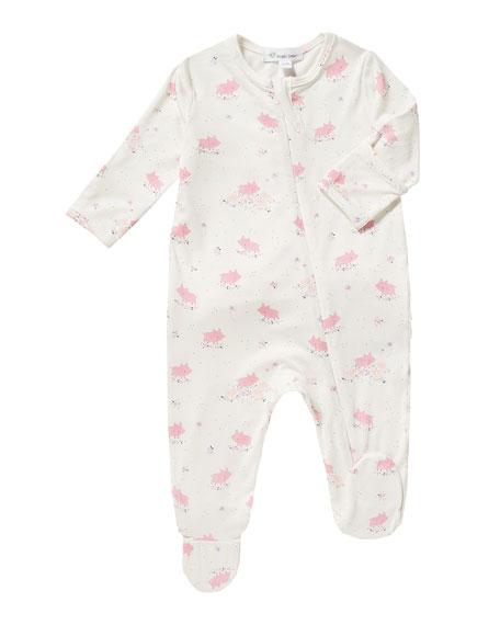 Angel Dear Piggies-Print Zip Footie Pajamas, Size 0-12