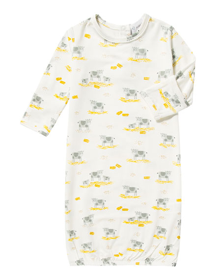 Cow Convertible Sleep Gown, Size 0-3 Months