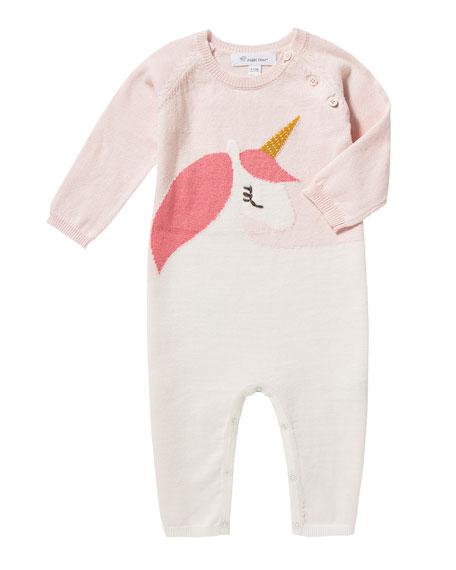 Angel Dear Unicorn Intarsia Knit Coverall, Size 0-12