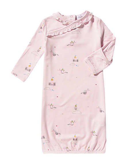 Unicorn Gown w Ruffles, Size 0-3 Months