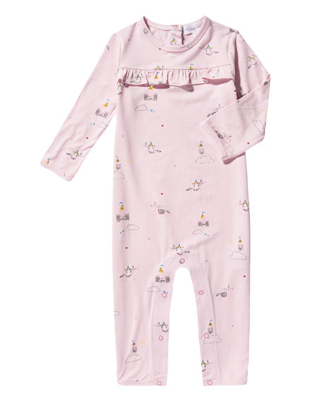 Angel Dear Unicorn Ruffle Coverall, Size 0-12 Months