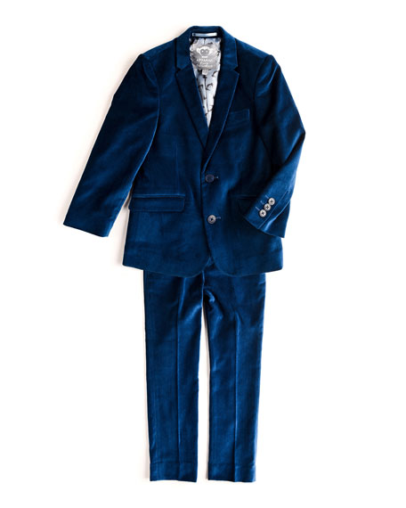 Appaman Mod Velvet Two-Piece Suit, Size 2T-14