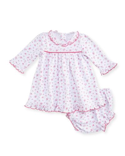 Autumn Breeze Pima Dress w/ Bloomers, Size 3-24 Months