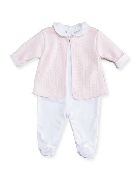Cable Couture Footie Playsuit & Jacket Set, Size Newborn-9M