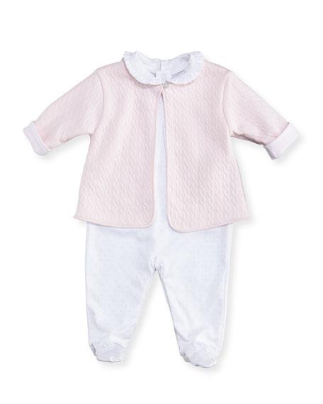 Cable Couture Footie Pajama & Jacket Set, Size Newborn-9M