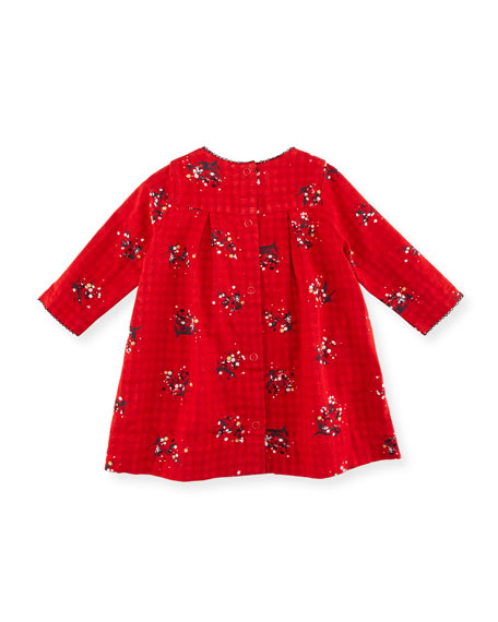 Long-Sleeve Floral-Print Dress, Size 3-36 Months