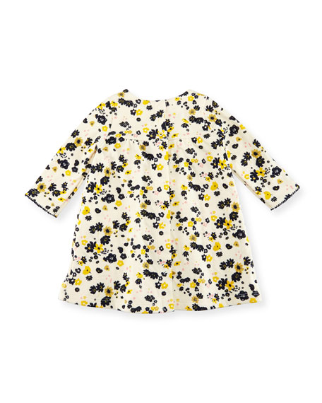 Long-Sleeve Floral Print Dress, Size 3-36 Months