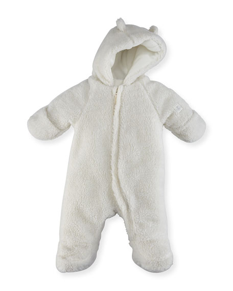 Hooded Sherpa Snowsuit, Size 1-12 Months
