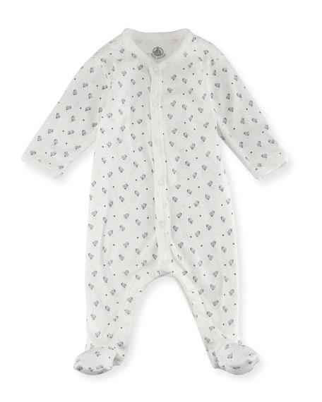 Petit Bateau Little Chicks Printed Footie Pajamas, Size