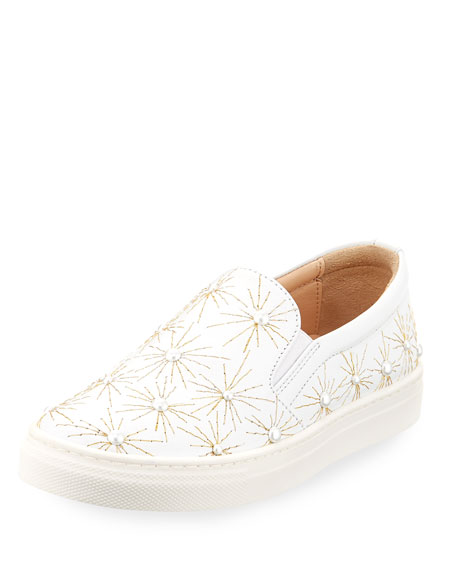 Cosmic Pearl Slip-On Sneaker, Toddler/Youth Sizes 11T-2Y, White