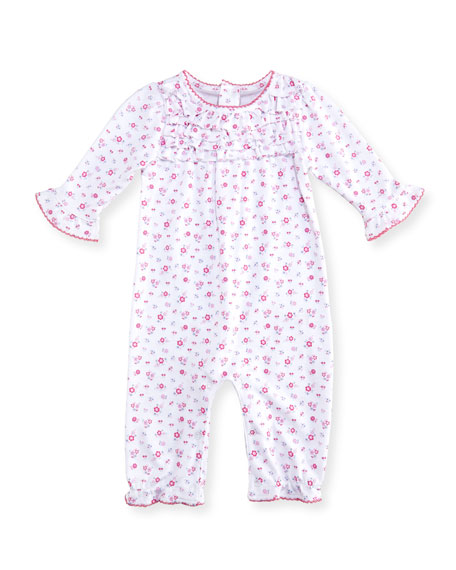 Autumn Breeze Floral-Print Pima Coverall, Size 0-24 Months